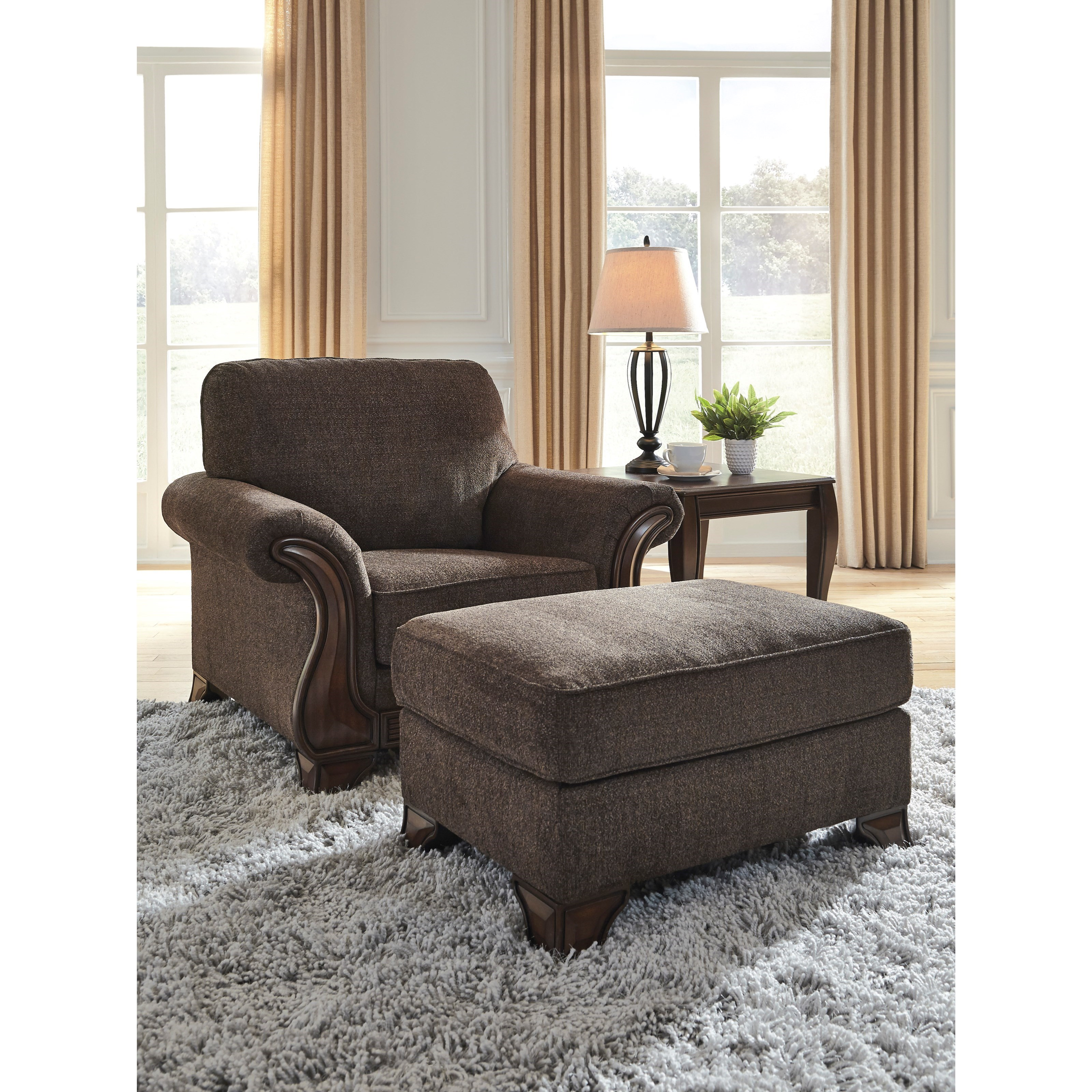 Miltonwood Chair and Ottoman Set by Benchcraft at Walker's Furniture