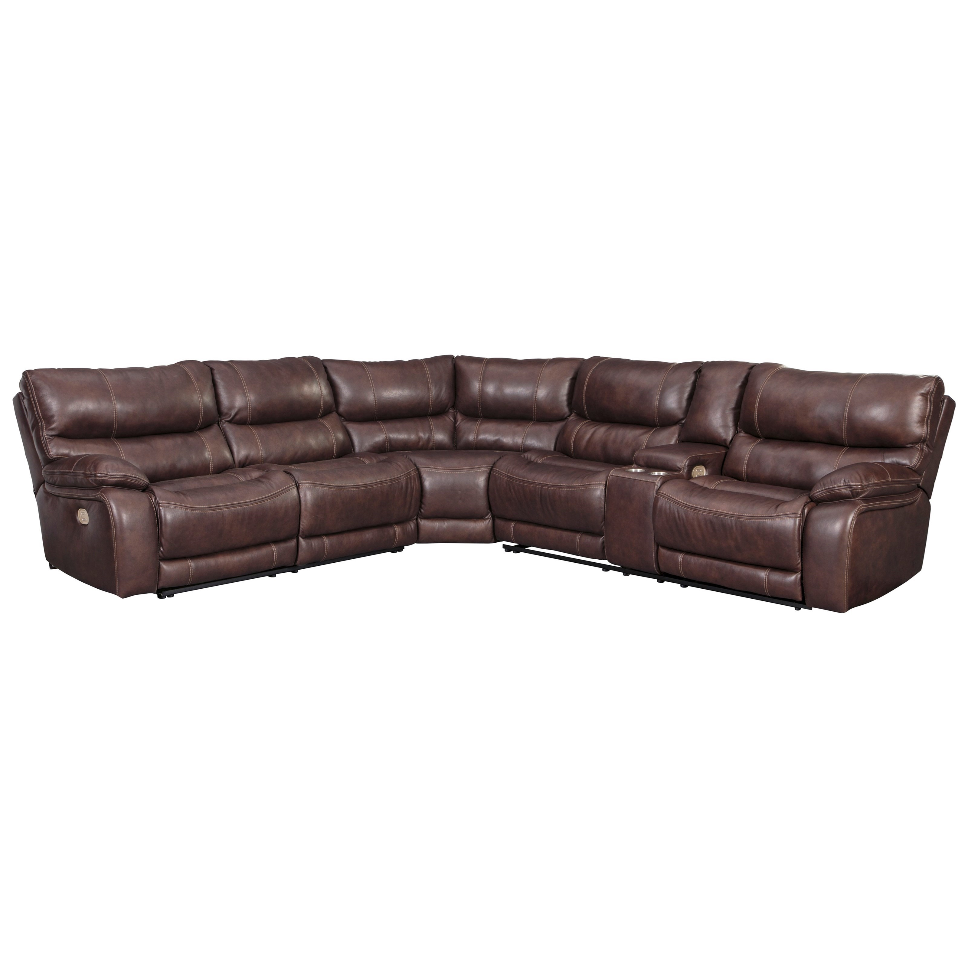 Muirfield 3-Piece Power Reclining Sectional by Benchcraft at Miller Waldrop Furniture and Decor