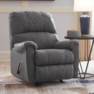 Contemporary Recliner with Rocker Base