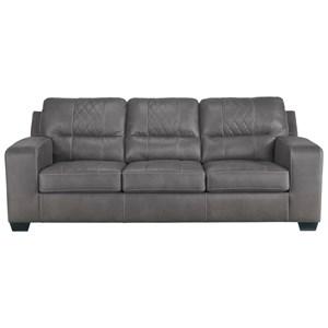 Contemporary Sofa Sleeper with Bi-Fold Queen Memory Foam Mattress