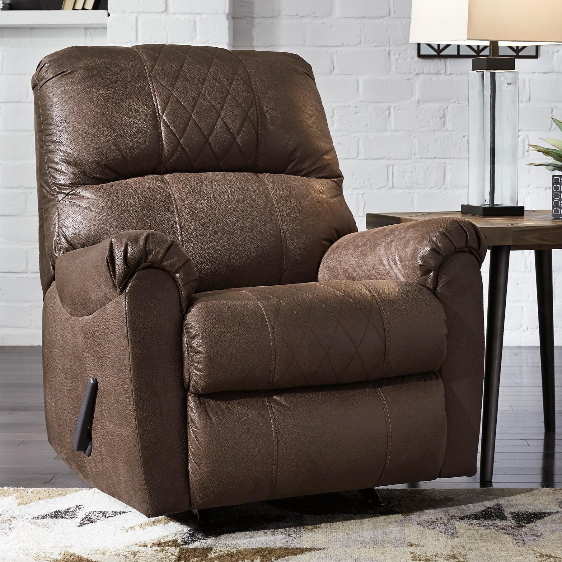 Narzole Recliner with Rocker Base by Benchcraft at Fisher Home Furnishings