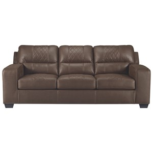 Contemporary Sofa Sleeper with Bi-Fold Queen Memory Foam Mattress