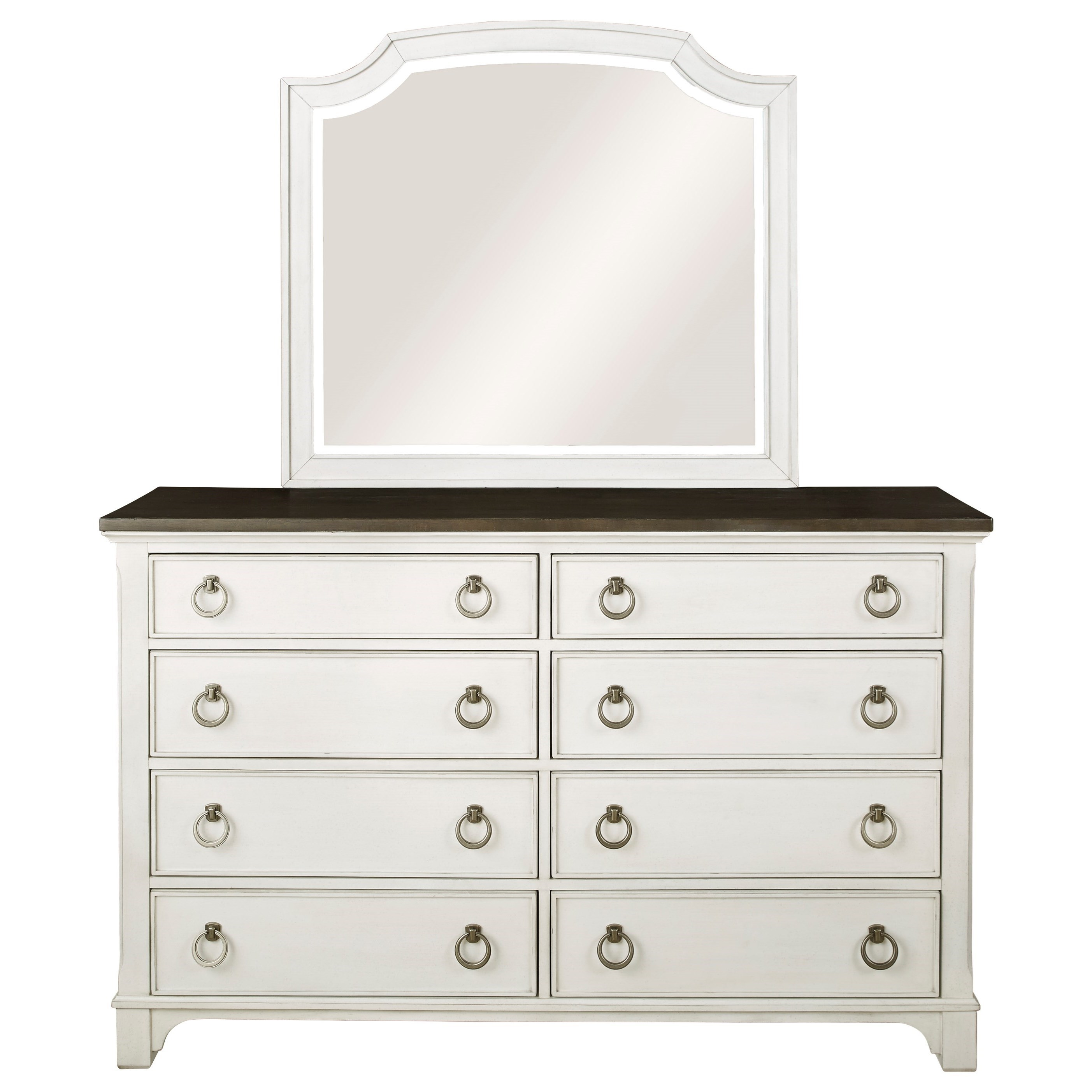 Nashbryn Dresser and Mirror Set by Benchcraft at Home Furnishings Direct