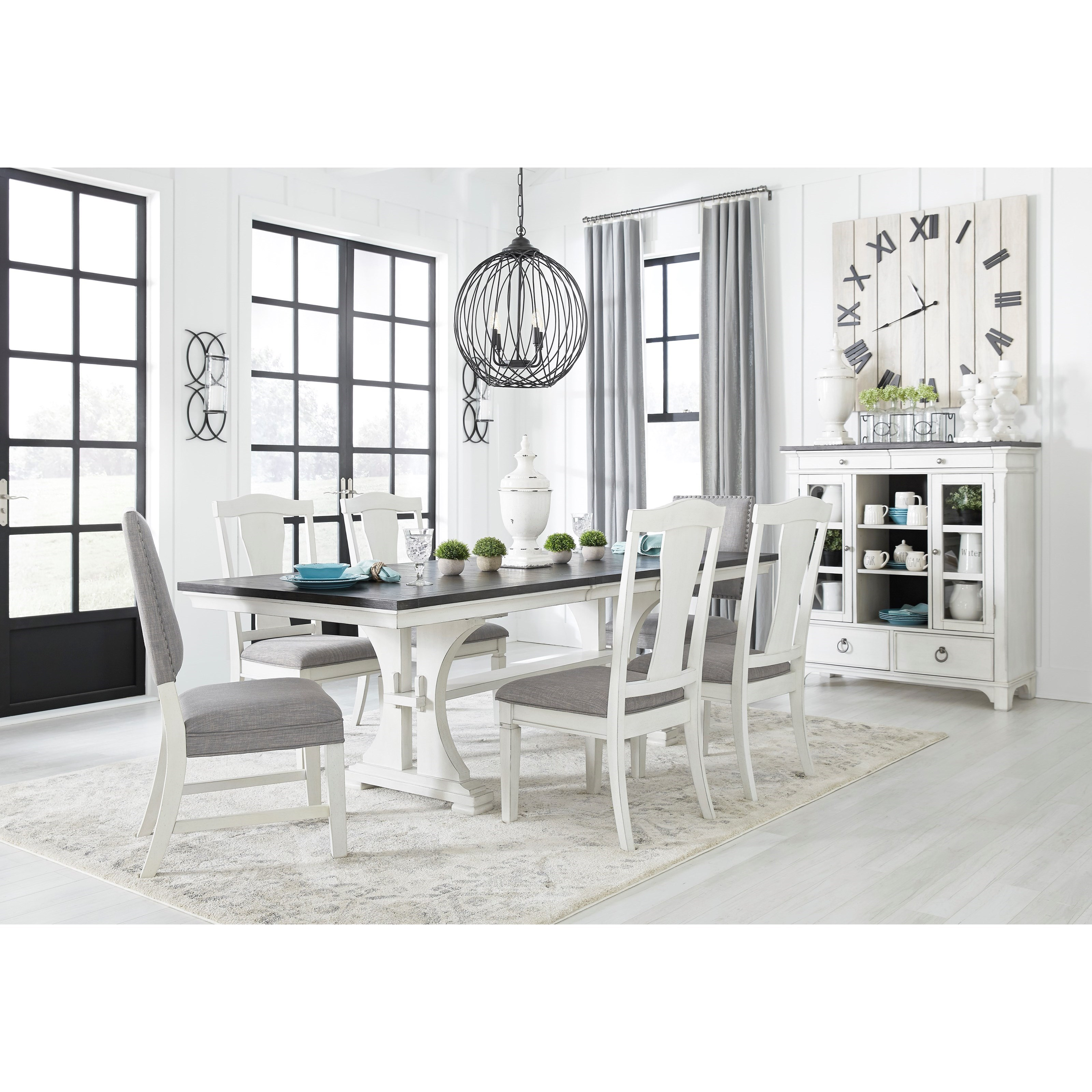 Nashbryn Dining Room Group by Benchcraft at Zak's Warehouse Clearance Center