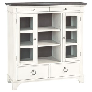 Transitional Dining Server with Cabinet Storage