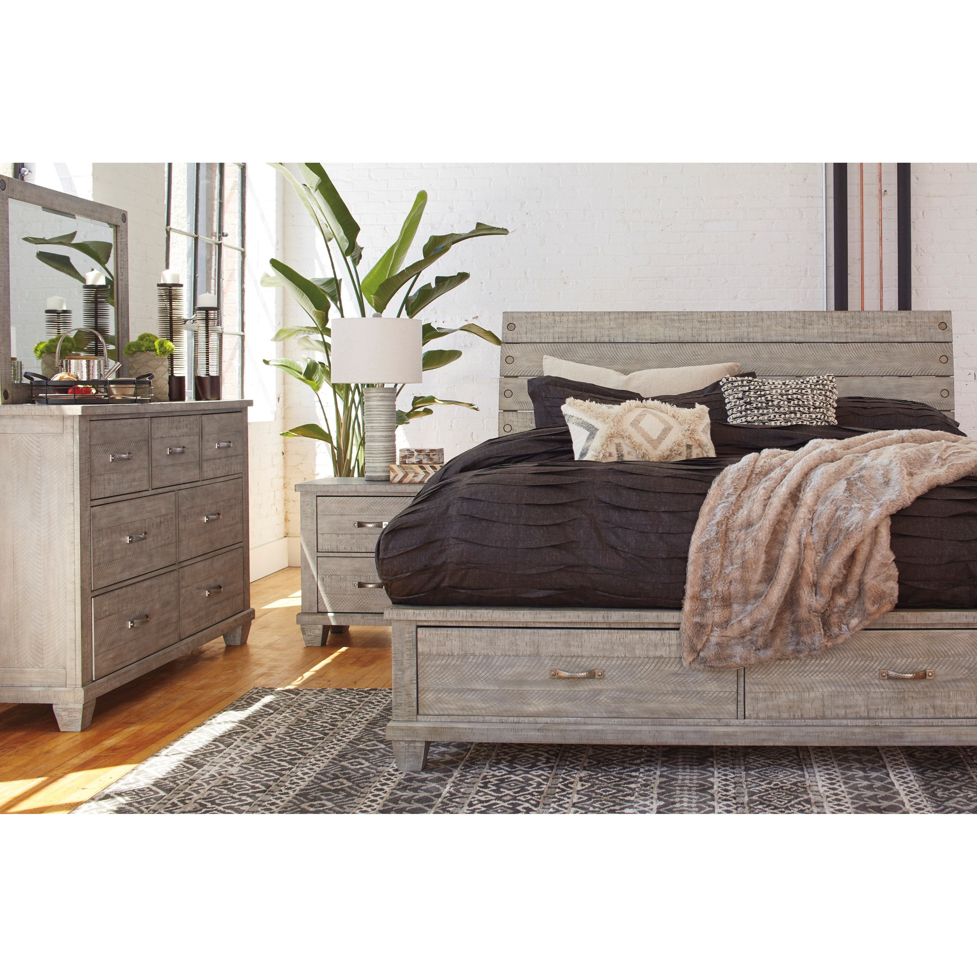 Naydell California King Bedroom Group by Benchcraft at Northeast Factory Direct