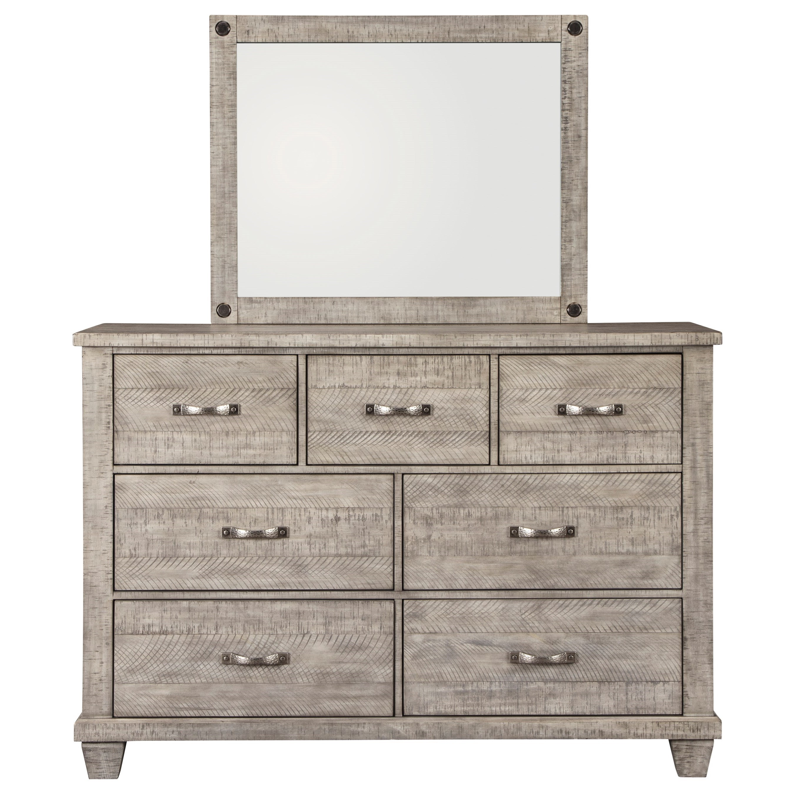 Naydell Dresser & Bedroom Mirror by Benchcraft at Walker's Furniture