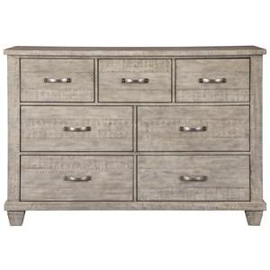 Rustic Dresser in Gray Finish