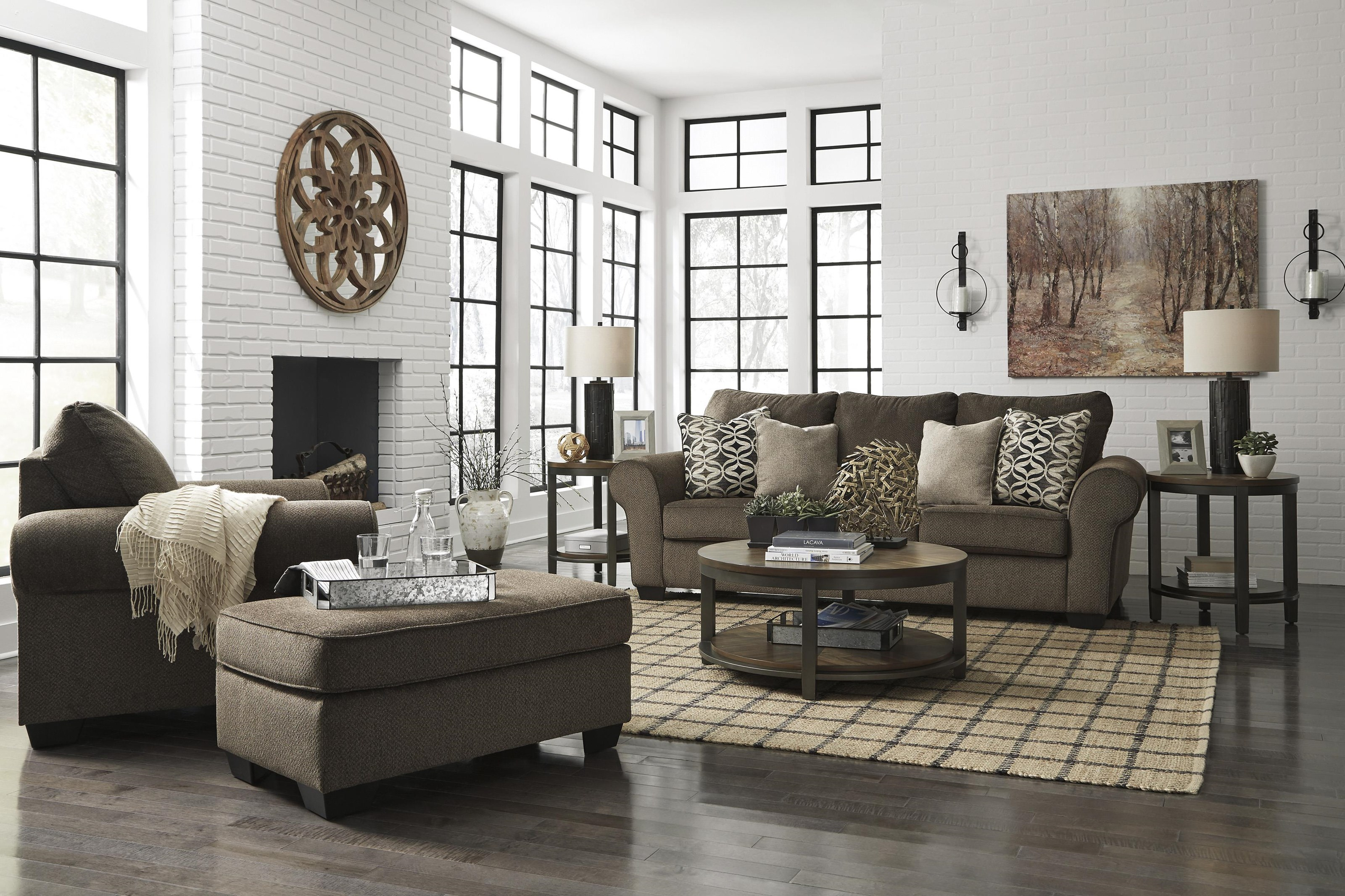 Nesso Sofa, Chair and Ottoman Set by Benchcraft at Sam Levitz Outlet