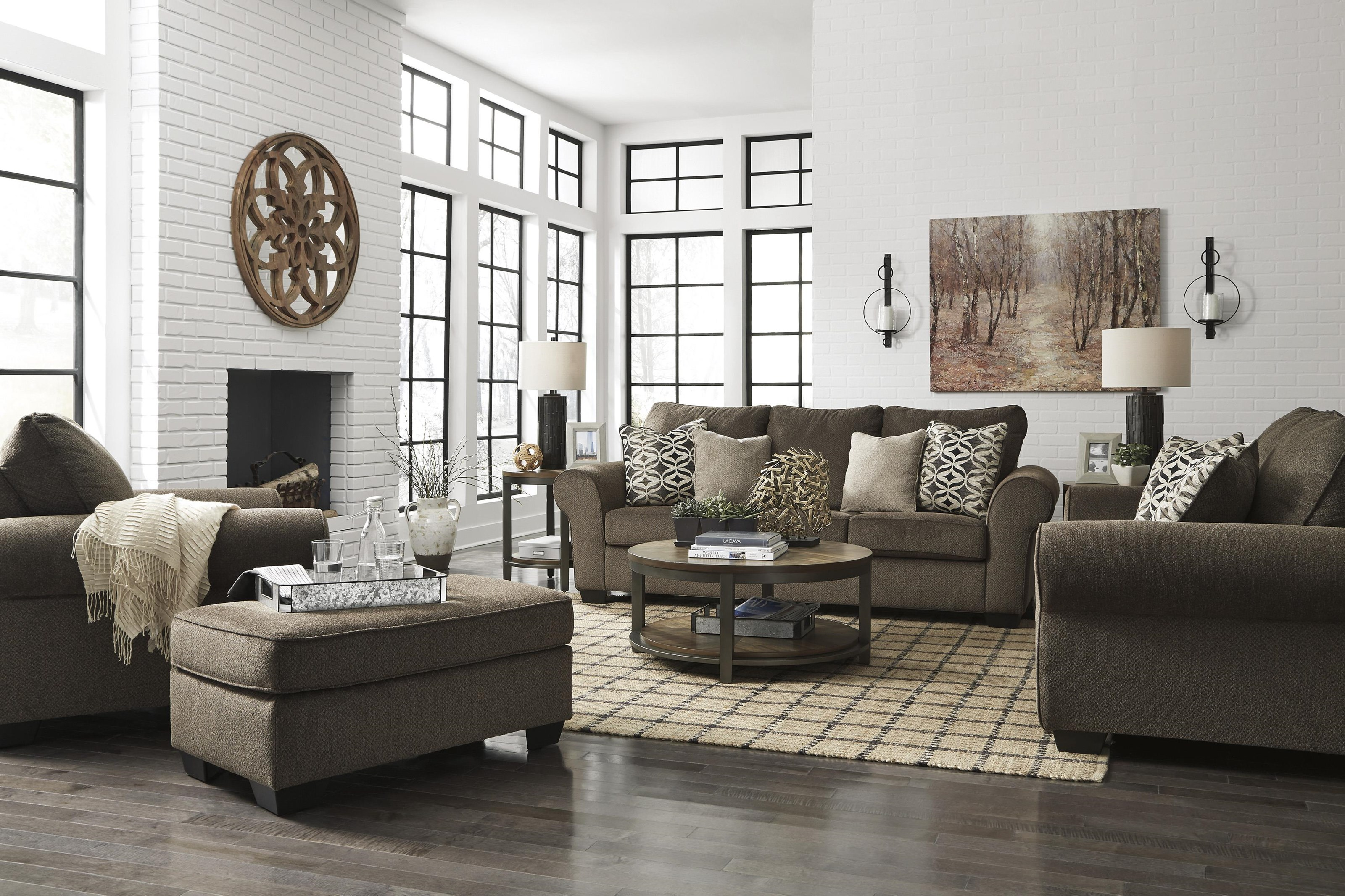 Nesso Sofa, Loveseat and Chair Set by Benchcraft at Sam Levitz Outlet