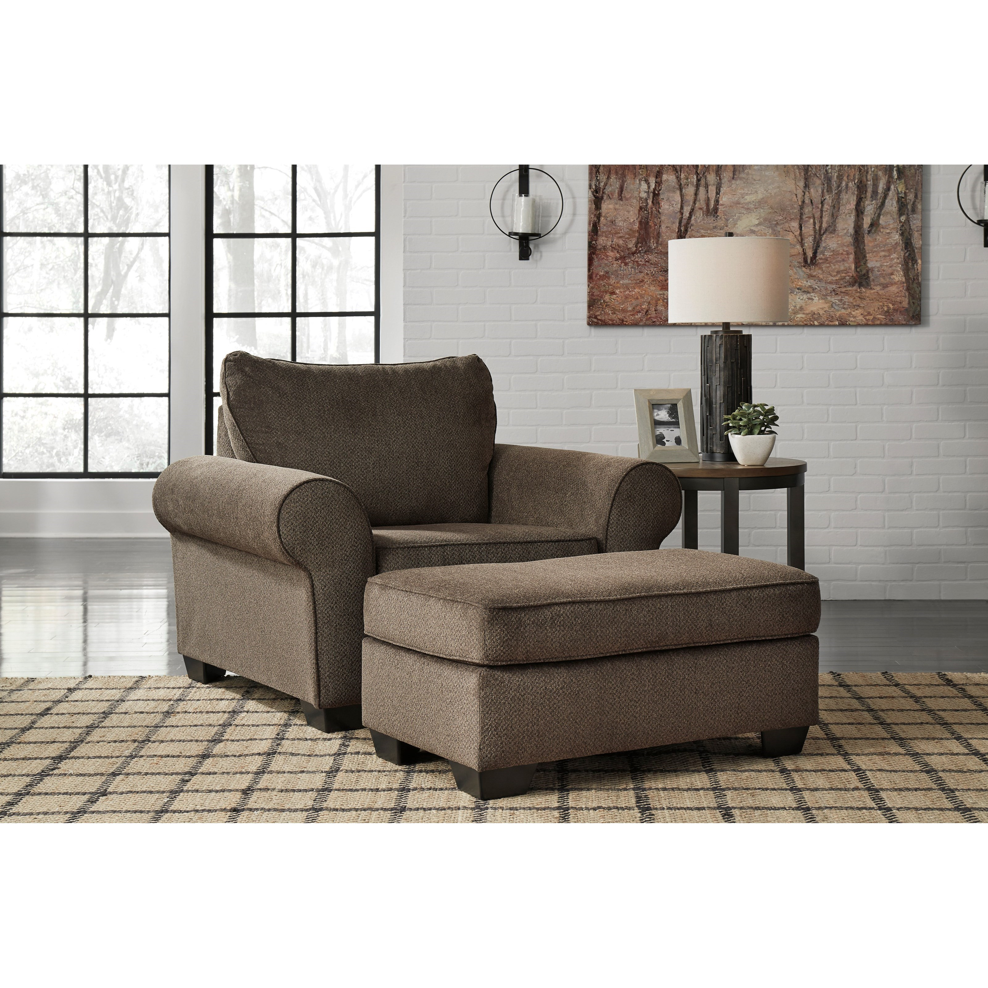 Nesso Chair & a Half and Ottoman by Benchcraft at Walker's Furniture