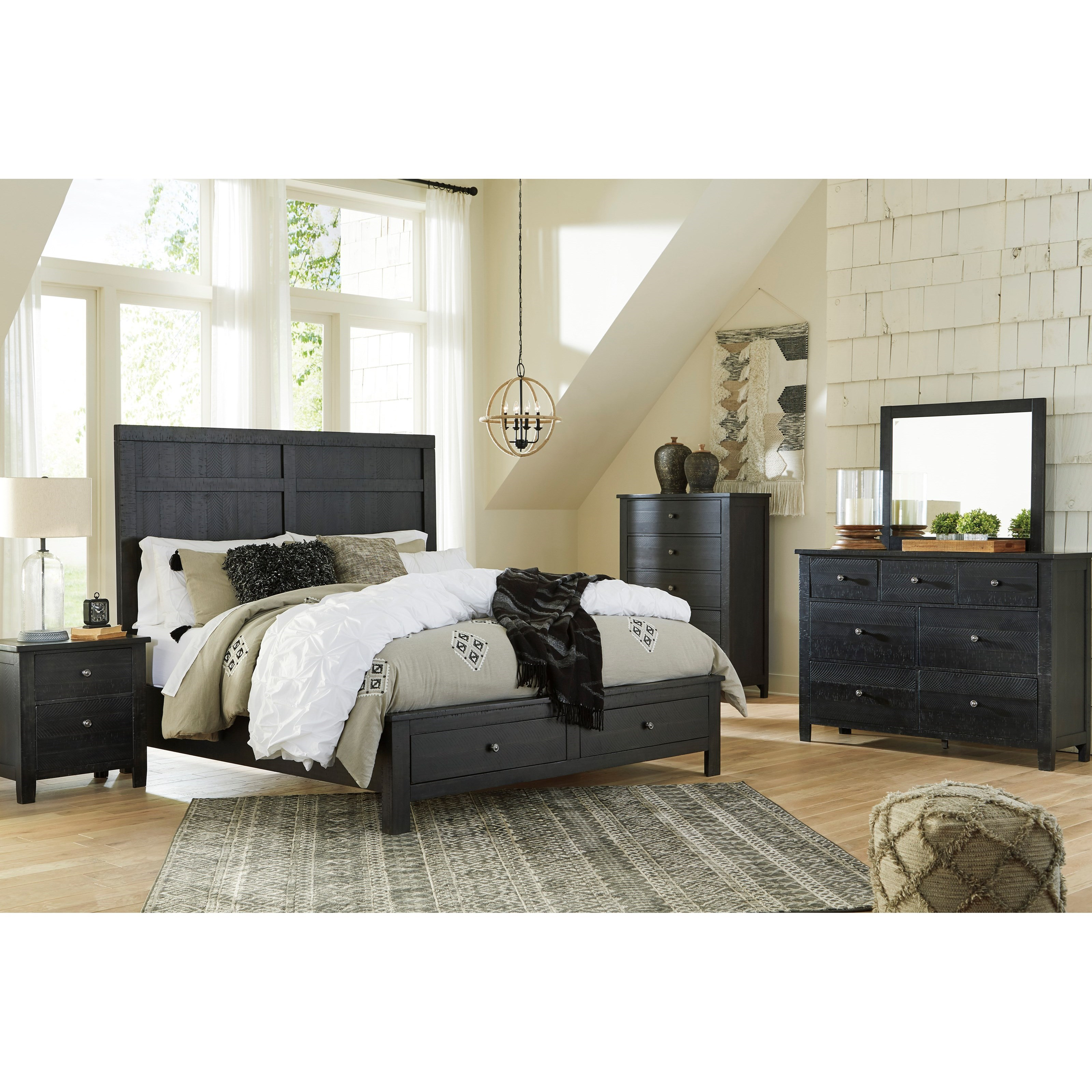 Noorbrook California King Bedroom Group by Benchcraft at Northeast Factory Direct