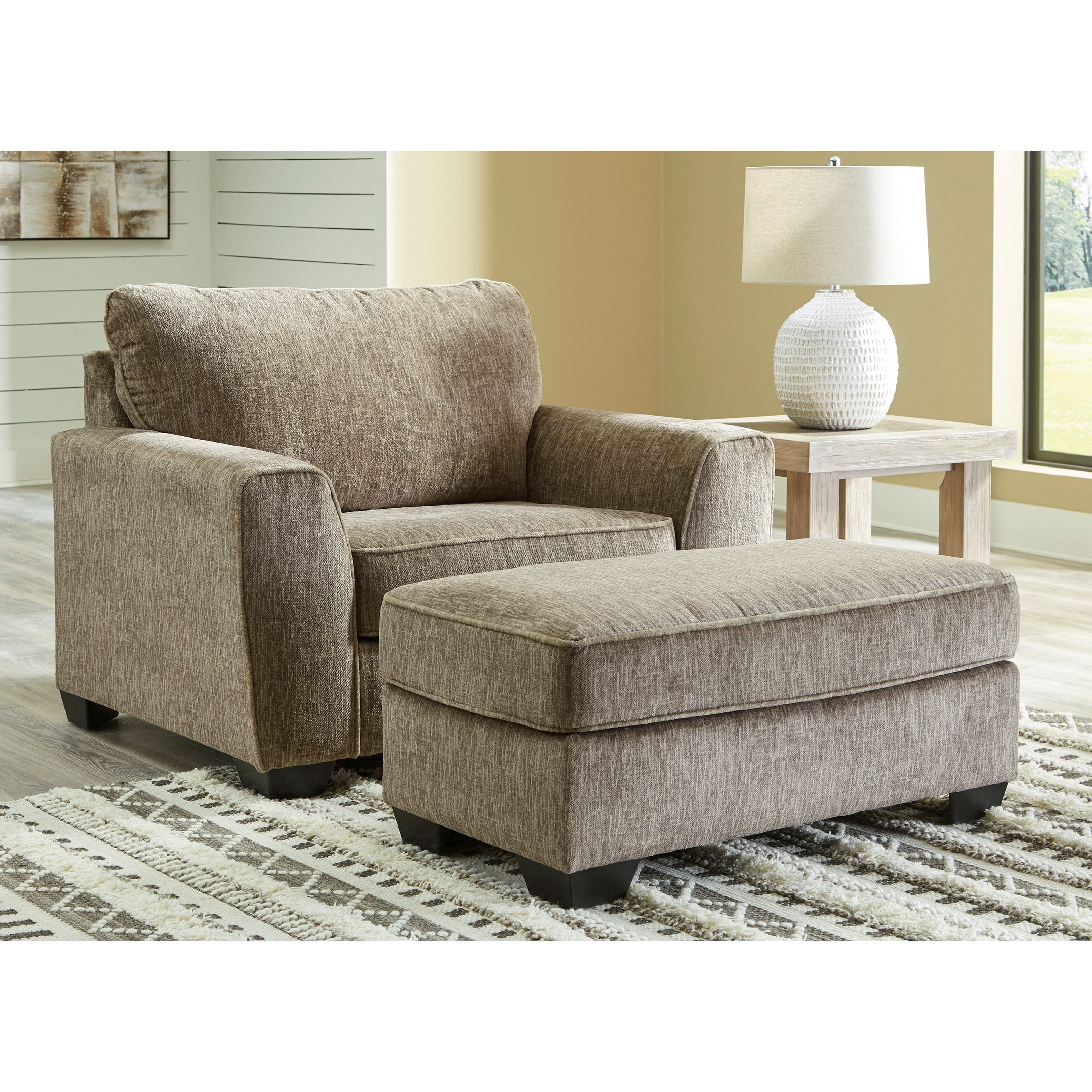 Olin Chair and Ottoman Set by Benchcraft at Value City Furniture