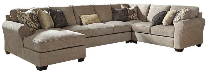 Pantomine 4-Piece Sectional w/ Chaise & Armless Sofa by Benchcraft at Value City Furniture