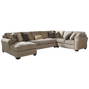 4-Piece Sectional w/ Chaise & Armless Sofa