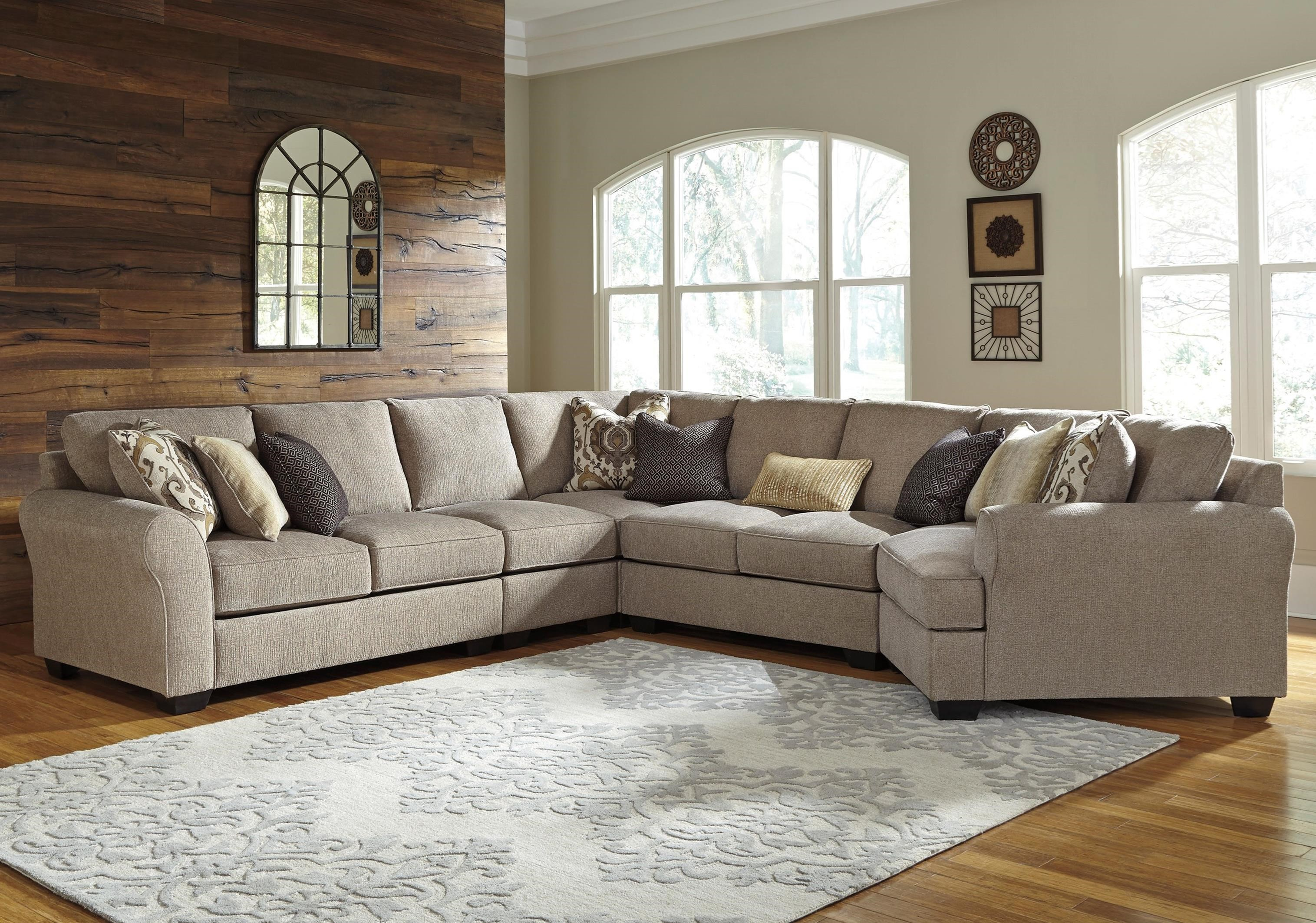 Pantomine 5-Piece Sectional with Right Cuddler by Benchcraft at Northeast Factory Direct