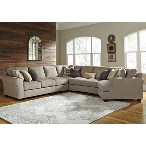 5-Piece Sectional with Right Cuddler