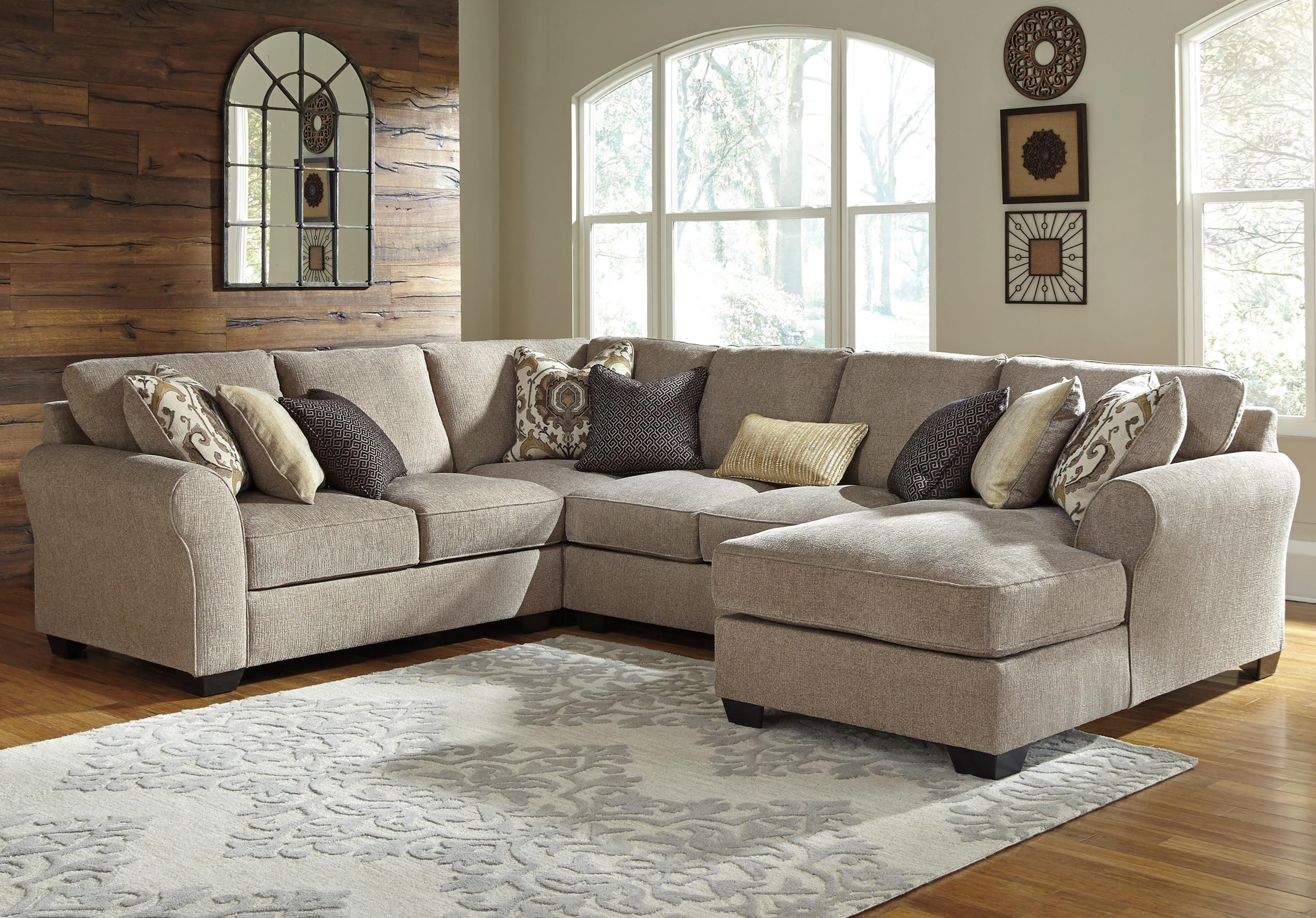 Pantomine 4-Piece Sectional with Right Chaise by Benchcraft at Walker's Furniture