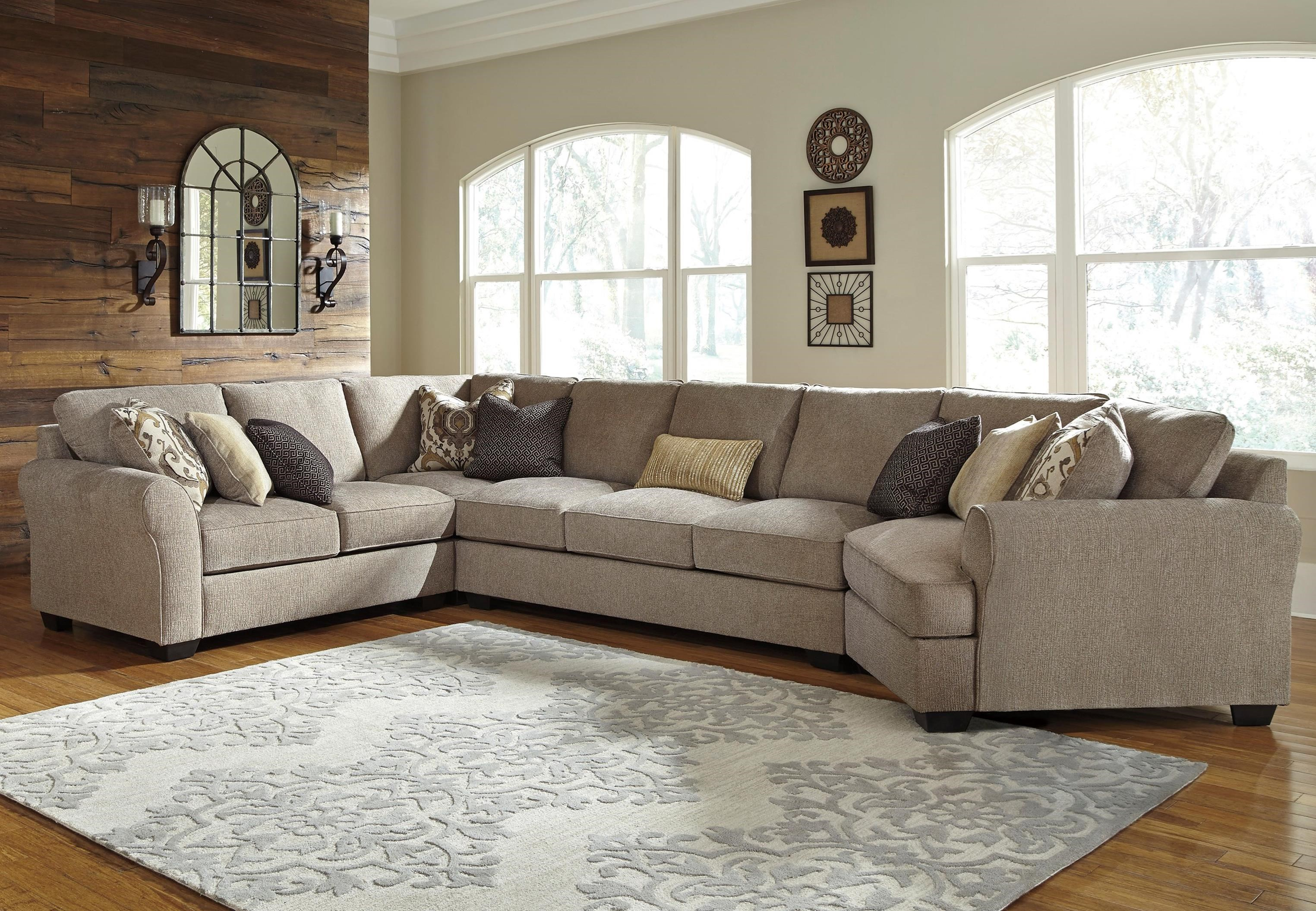 Pantomine 4-Piece Sectional w/ Cuddler & Arrnless Sofa by Benchcraft at Northeast Factory Direct