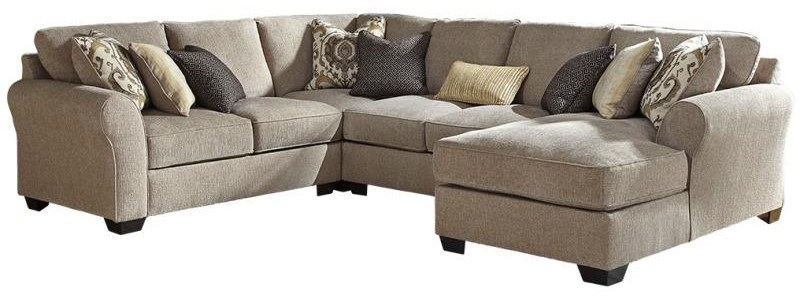 Pantomine 4-Piece Sectional with Right Chaise by Benchcraft at Value City Furniture