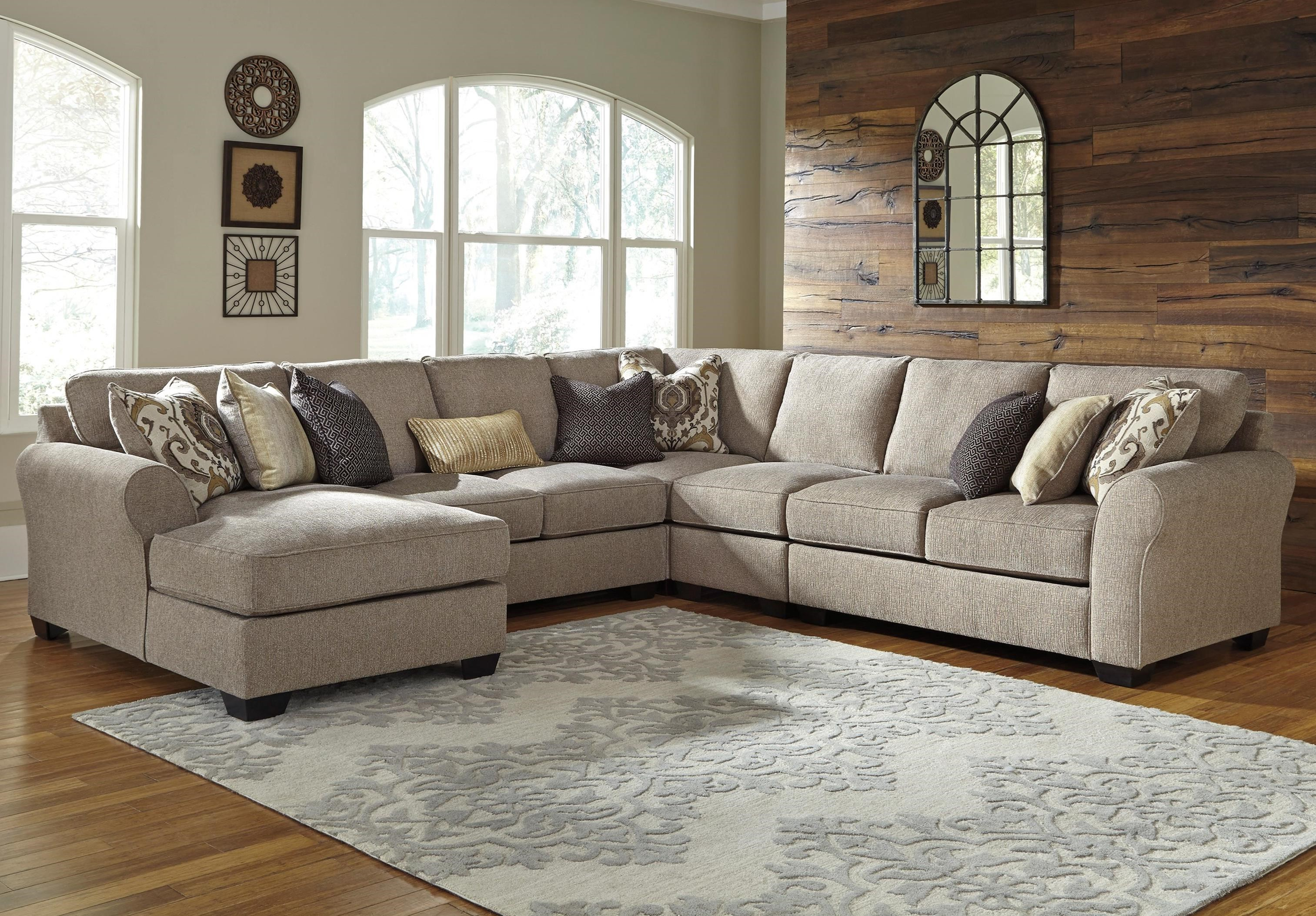Pantomine 5-Piece Sectional with Chaise by Benchcraft at Furniture Barn
