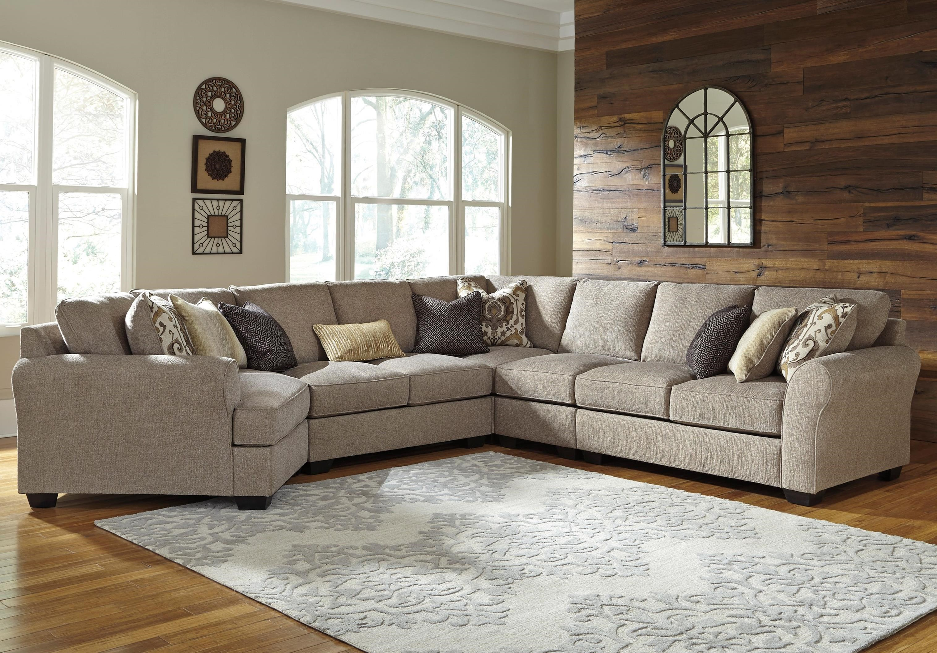 Pantomine 5-Piece Sectional with Cuddler by Benchcraft at Walker's Furniture