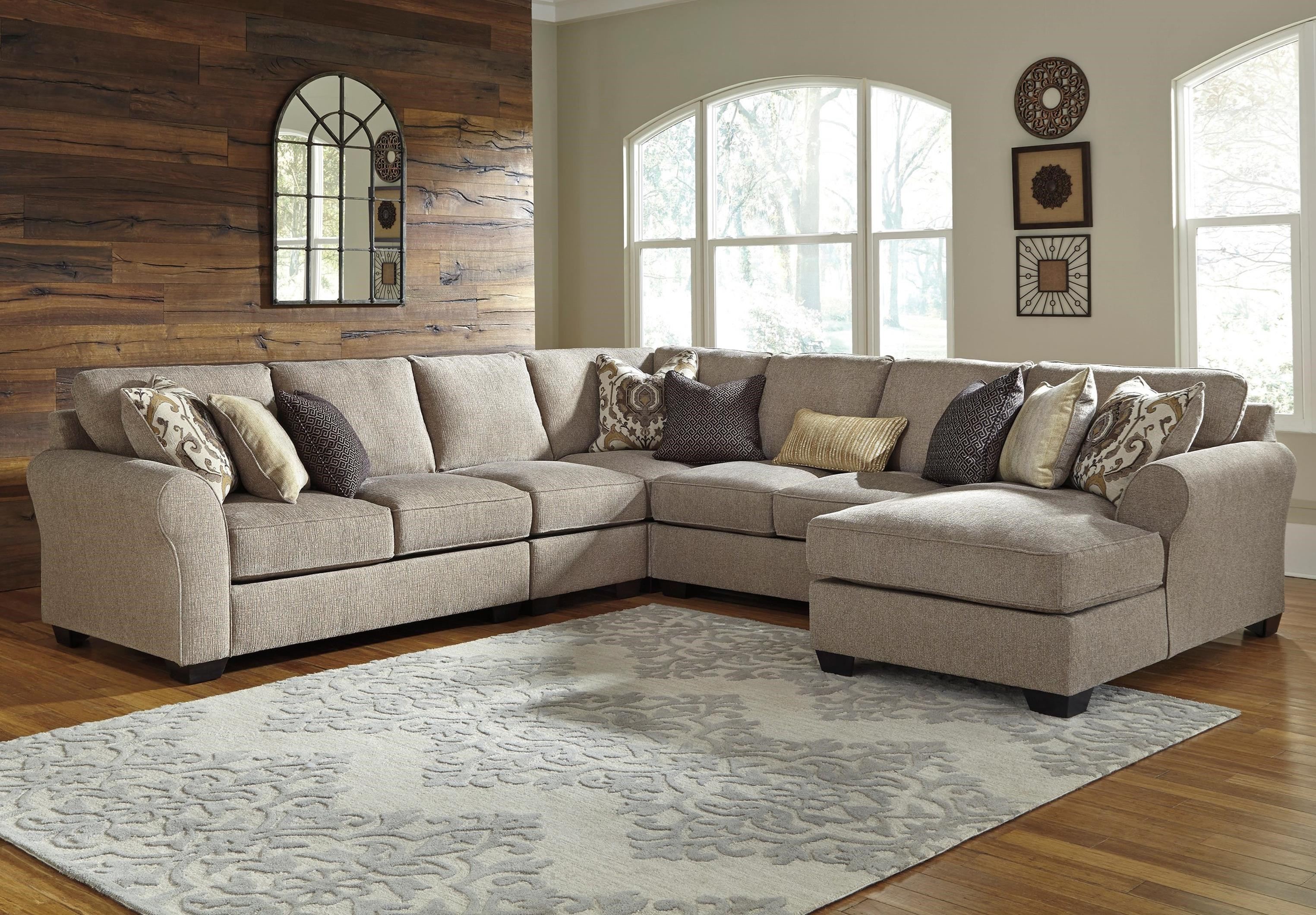 Pantomine 5-Piece Sectional with Chaise by Benchcraft at Miller Waldrop Furniture and Decor