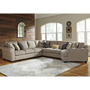 5-Piece Sectional with Cuddler
