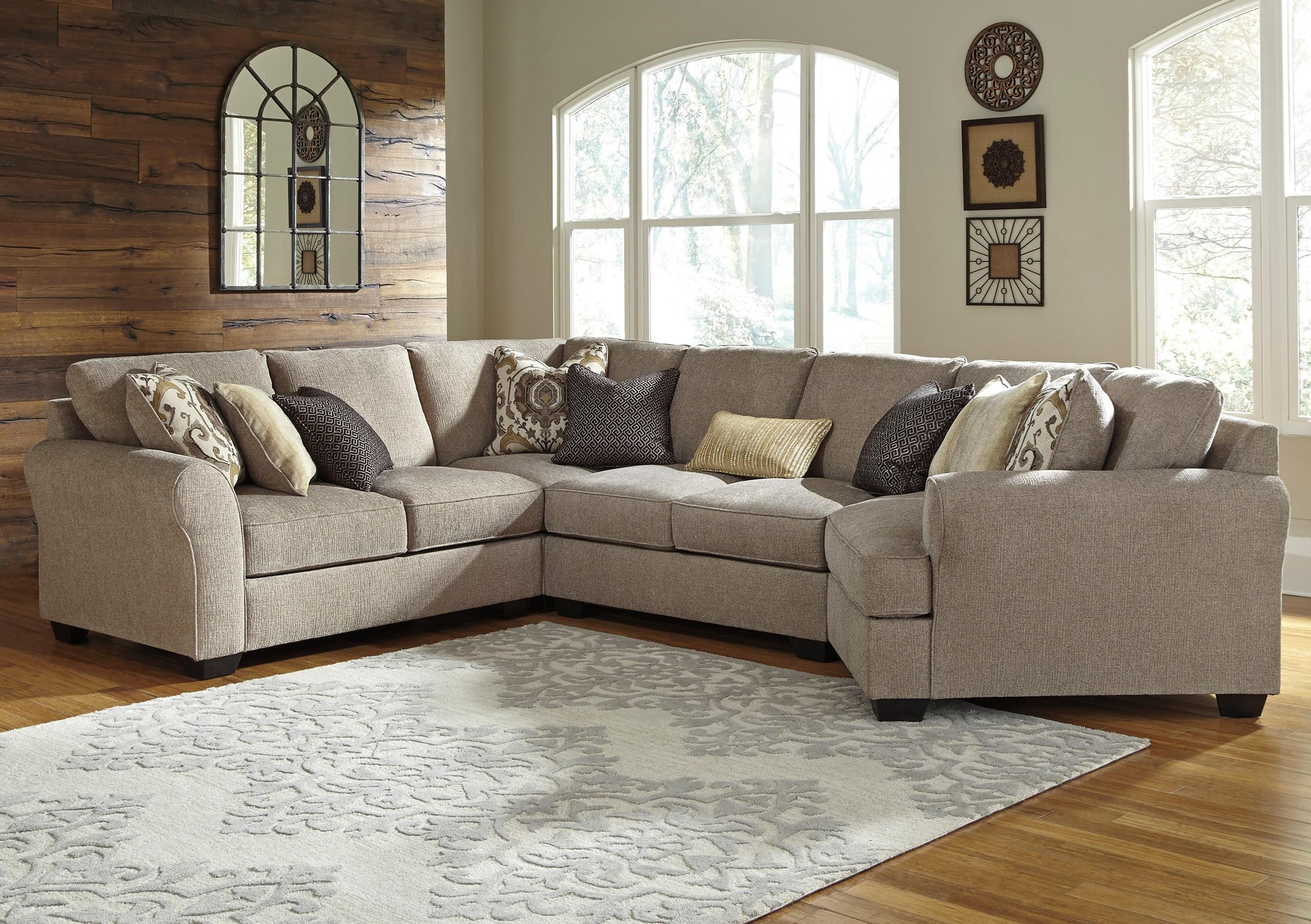 Pantomine 4-Piece Sectional with Cuddler by Benchcraft at Walker's Furniture