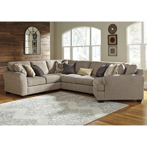 4-Piece Sectional with Cuddler