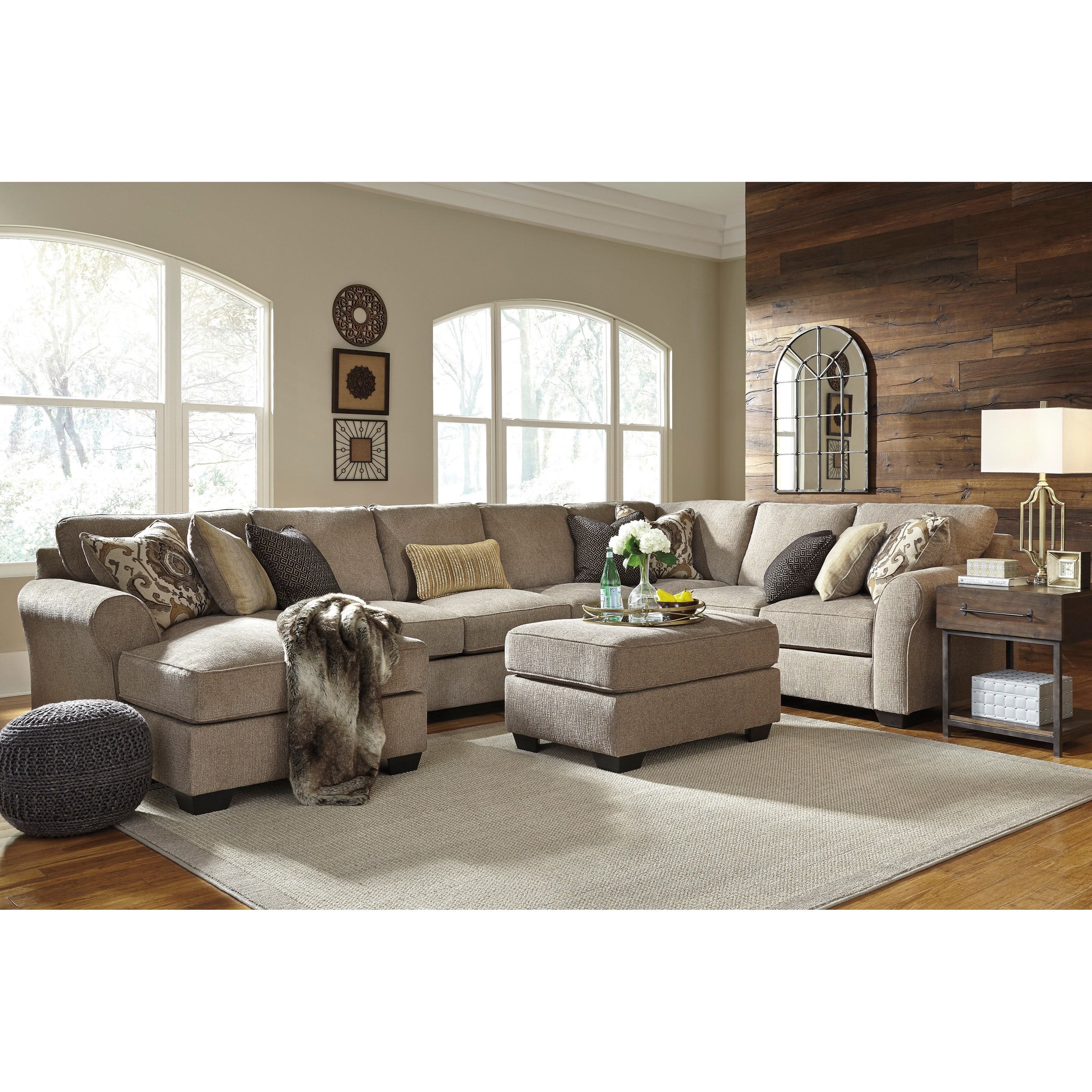 Pantomine 4-Piece Sectional with Ottoman by Benchcraft at Miller Waldrop Furniture and Decor