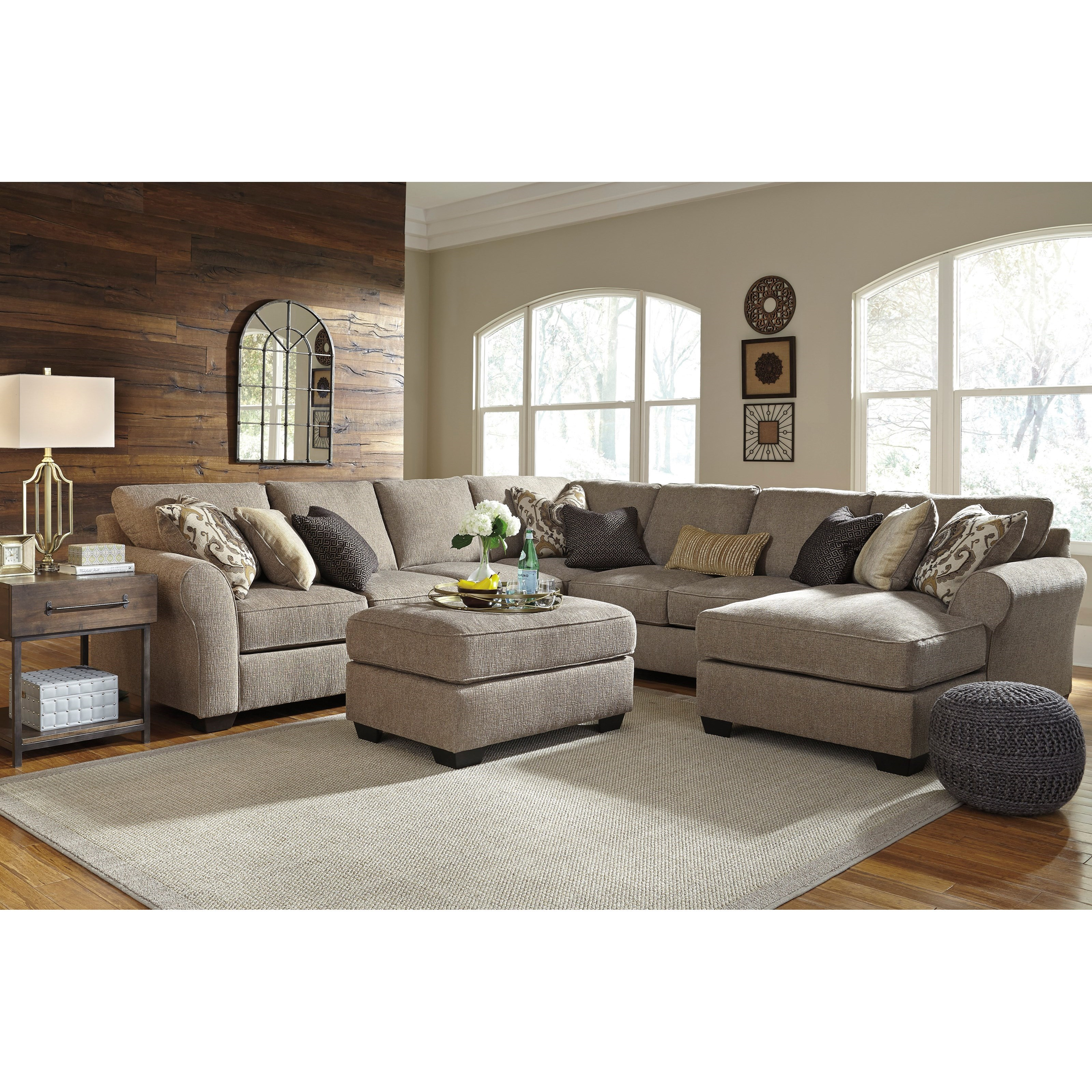 Pantomine 5-Piece Sectional with Ottoman by Benchcraft at Northeast Factory Direct