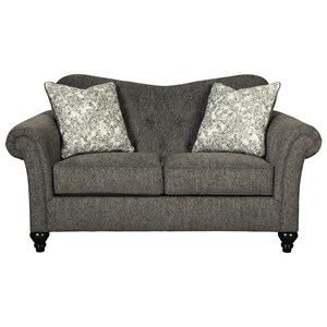 Traditional Loveseat with Tufted Sweetheart Back