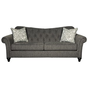 Traditional Sofa with Tufted Sweetheart Back