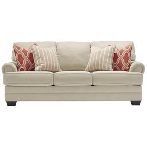 Sofa with Rolled Panel Arms