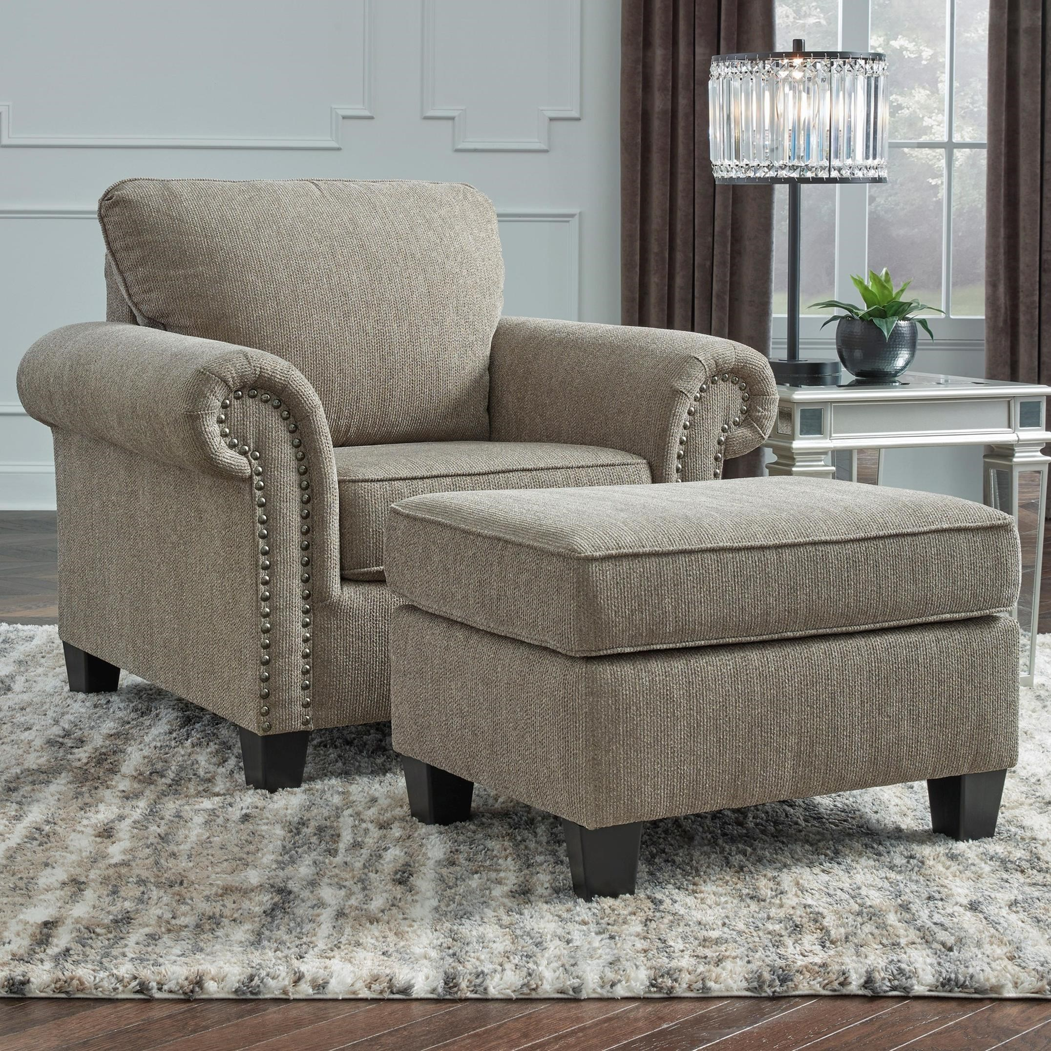 Shewsbury Chair and Ottoman by Benchcraft at Furniture Barn