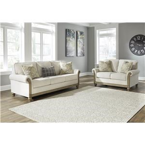 2 Piece Sofa and Loveseat Living Room Set