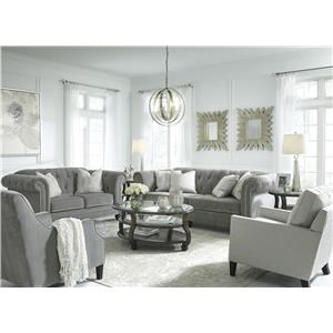 Ash Sofa, Accent Chair and Nail Trim Chair Set