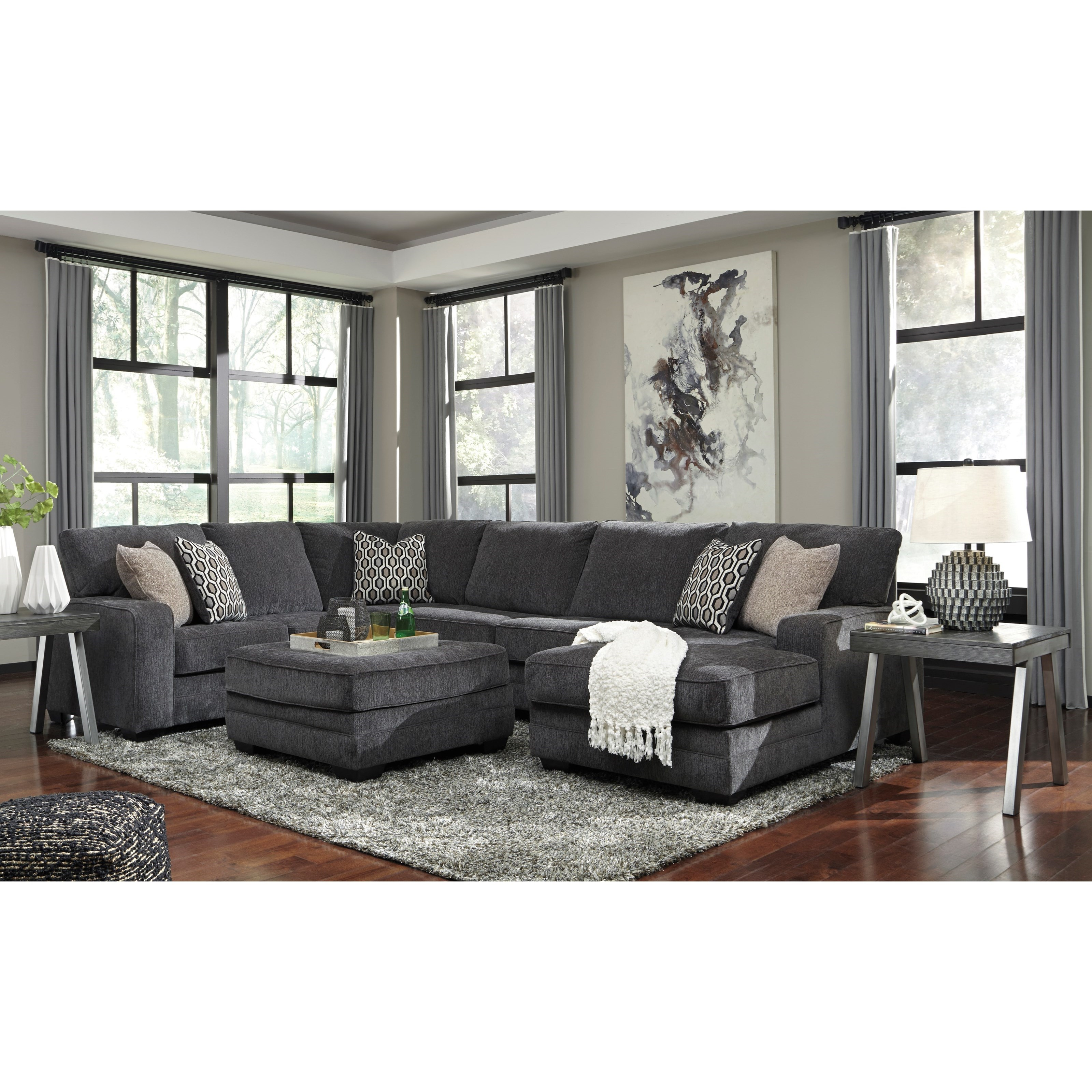Tracling 2pc Sectional and ottoman by Benchcraft at Value City Furniture