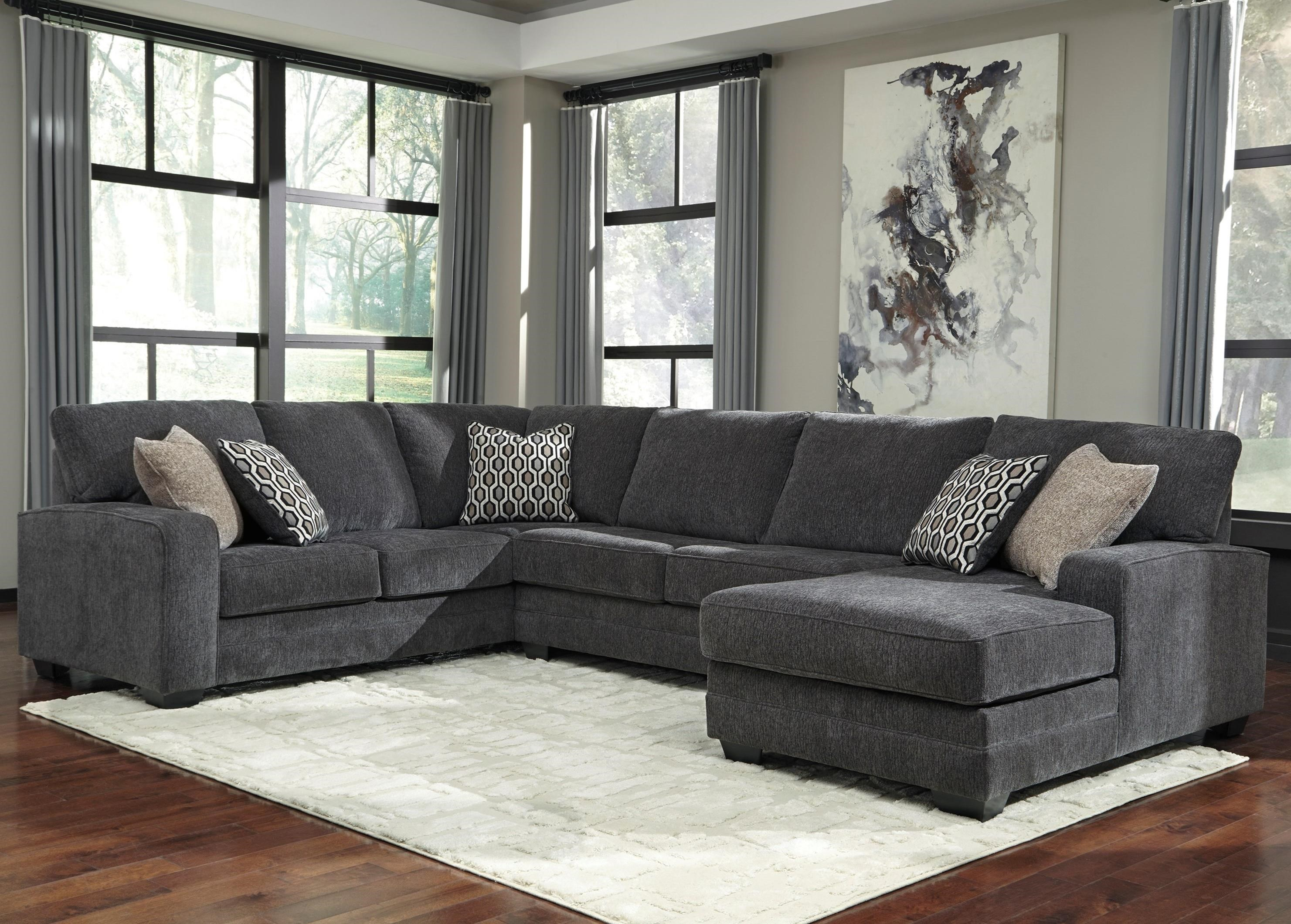 Tracling Sectional with Right Chaise by Benchcraft at Northeast Factory Direct