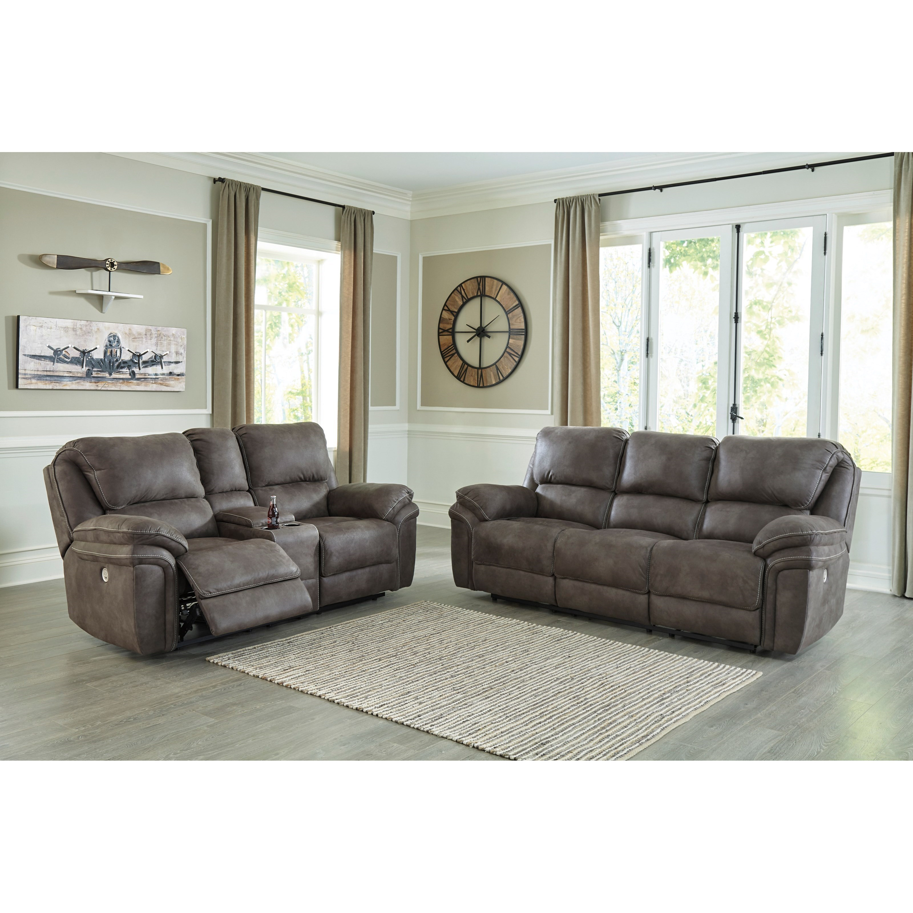 Trementon Power Reclining Living Room Group by Benchcraft at Household Furniture