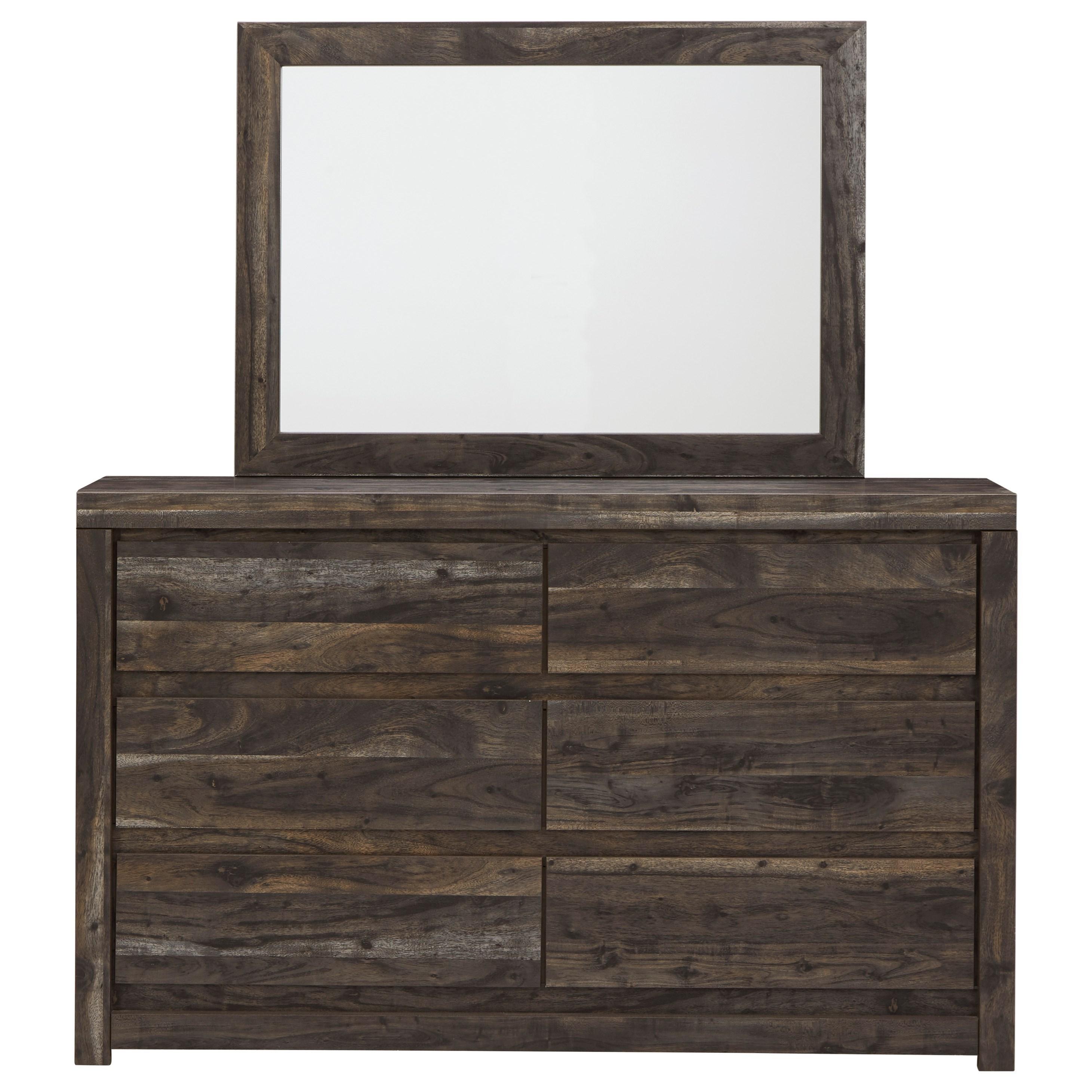 Vay Bay Dresser & Mirror by Benchcraft at Walker's Furniture