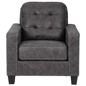 Contemporary Chair with Tufted Cushions