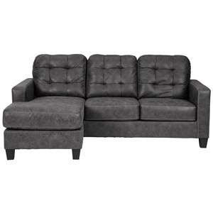 Contemporary Queen Sleeper Sofa with Chaise