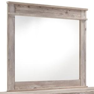 Weathered Beige Bedroom Mirror