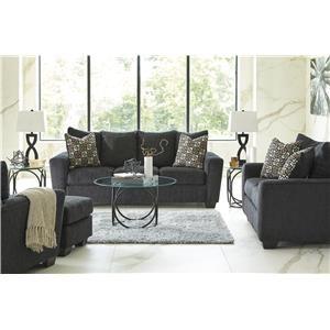 Slate Sofa, Chair and Ottoman Set