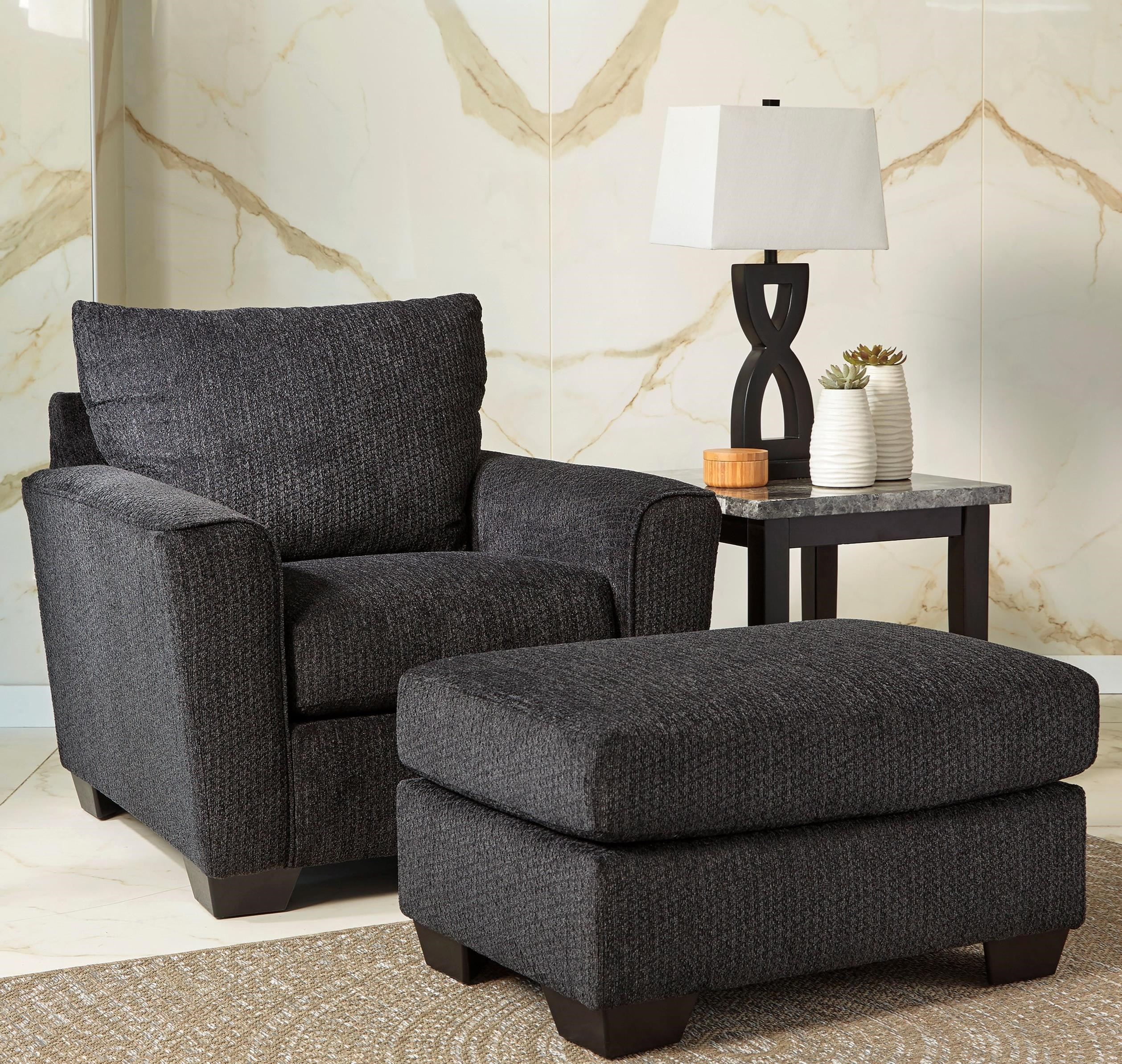 Wixon Chair & Ottoman by Benchcraft at Walker's Furniture