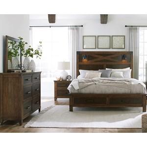 Queen Bedroom Group Includes Dresser, Mirror and 3-PC Queen Bed