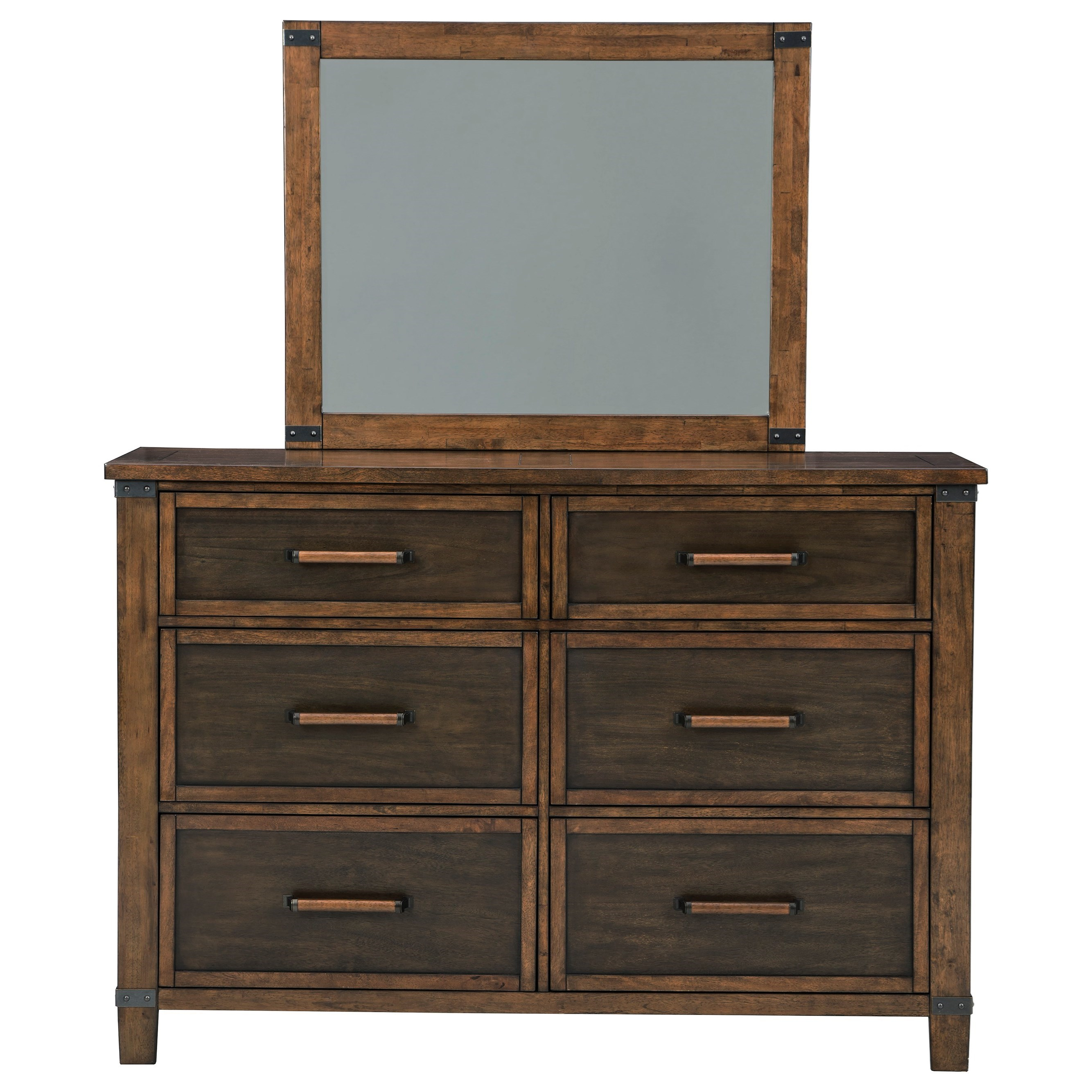 Wyattfield Dresser & Bedroom Mirror by Benchcraft at Zak's Warehouse Clearance Center