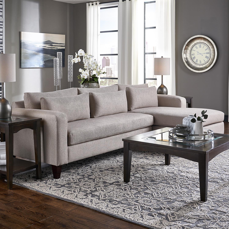 Parker Sofa Chaise by Belfort Essentials at Belfort Furniture